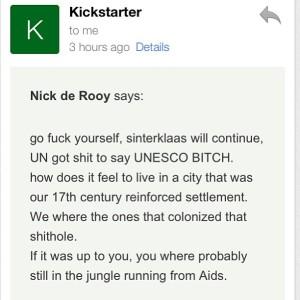 Zwarte Piet hate mail